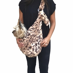 Adjustable Furbaby Sling Bag, King Cheetah