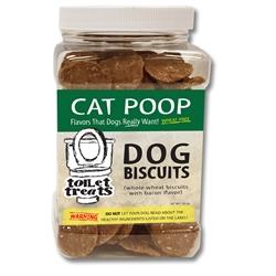 """Cats Poop"" - Bacon Toilet Treats Dog Biscuits (16oz.)"