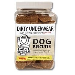 """Dirty Underwear"" - Bacon Toilet Treats Dog Biscuits (16oz.)"
