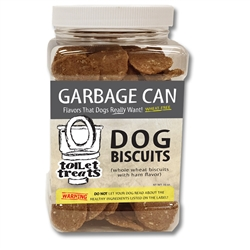 """Garbage Can"" - Ham Toilet Treats Dog Biscuits (16oz.)"