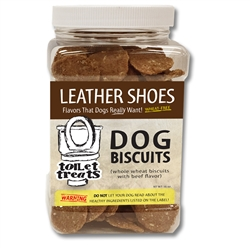 """Leather Shoes"" - Beef Toilet Treats Dog Biscuits (16oz.)"