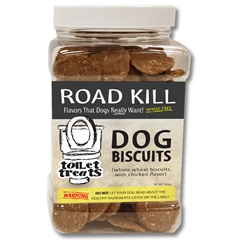 """Road Kill"" - Chicken Toilet Treats Dog Biscuits (16oz.)"