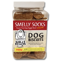 """""""Smelly Socks"""" - Beef Toilet Treats Dog Biscuits (16oz.)"""