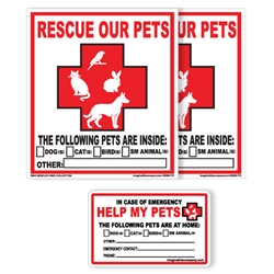 Pet Rescue Packs with Decals and Wallet Cards