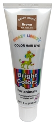 Brown Permanent Pet Hair Dye by Crazy Liberty