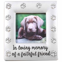 Pewter Look Memorial Frame