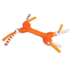 ZOOBILEE TPR AND T-SHIRT BONE DOG TOY