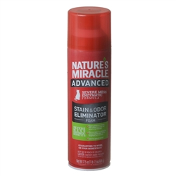 NATURE'S MIRACLE JUST FOR CATS ADVANCED STAIN & ODOR REMOVER FOAM 17.5OZ