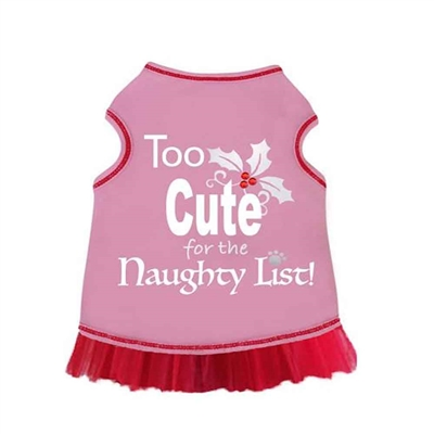 Too Cute for the Naughty List Dress  - Pink