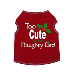 Too Cute for the Naughty List Tank - Red