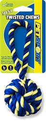 Twisted Chews Mini Braided Monkey Fist 7""