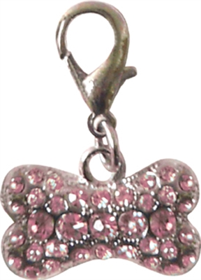 RHINESTONE BONE CHARM ASSORTED COLORS