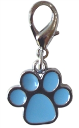 ENAMEL PAW PRINT CHARM ASSORTED COLORS