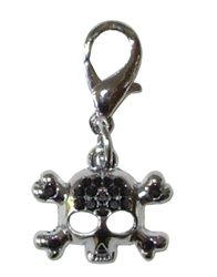 RHINESTONE SKULL CHARM ASSORTED COLORS