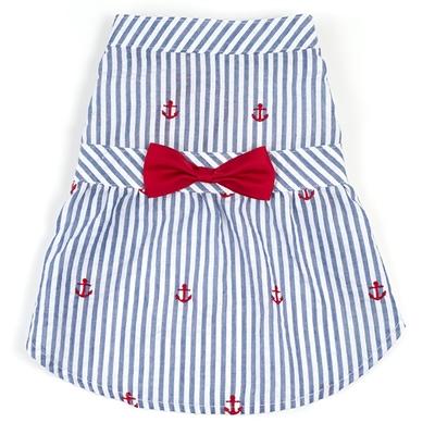 Navy Stripe Anchor Dress