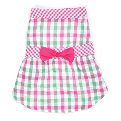 Pink Check Plaid Dress