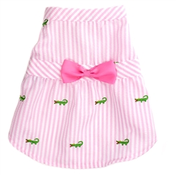 Pink Stripe Alligator Dress