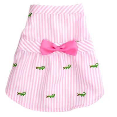 Pink Stripe Alligator Dress