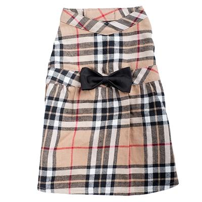 Tan Plaid Dress