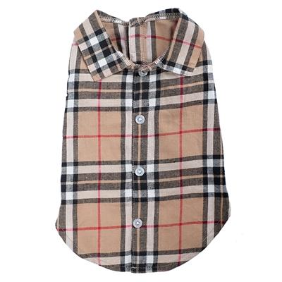 Tan Plaid Shirt