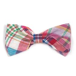 Bright Patch Madras Bow Tie