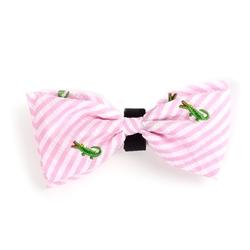 Pink Stripe Alligator Bow Tie
