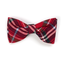 Red Plaid Bow Tie