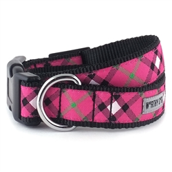 Bias Plaid Hot Pink Collar & Lead Collection
