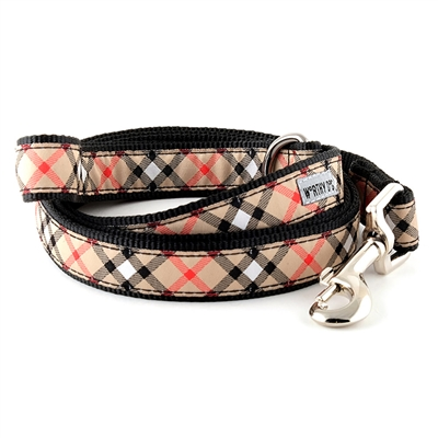 Bias Plaid Tan Collar & Lead Collection