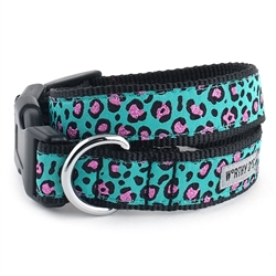 Cheetah Teal Collar & Lead Collection