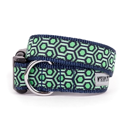 Navy/Green Hexagon Collar & Lead Collection