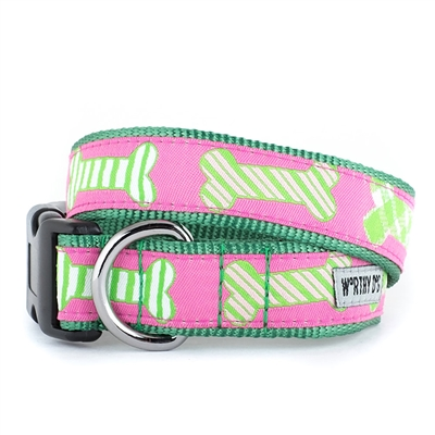Preppy Bones Pink Collar & Lead Collection