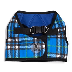 Sidekick Printed Blue Plaid Harness