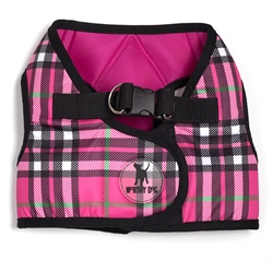 Sidekick Printed Hot Pink Plaid Harness