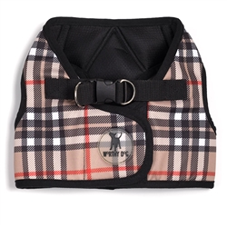 Sidekick Printed Tan Plaid Harness