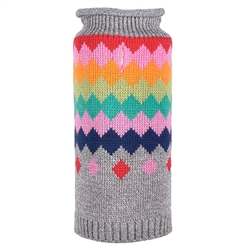 Argyle Fairisle Roll Neck Sweater
