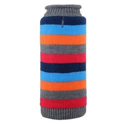 Dapper Stripe Grey Roll Neck Sweater