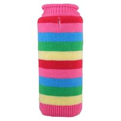 Dapper Stripe Pink Roll Neck Sweater