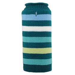 Dapper Stripe Teal Roll Neck Sweater
