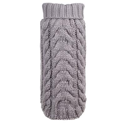 Hand Knit Grey Turtleneck Sweater
