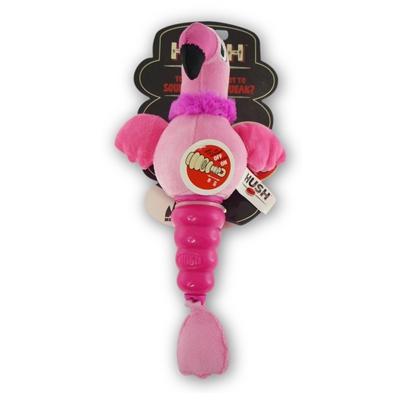 MEGA MUTTS Hush Plush DOG TOY - FLAMINGO- Small - 4 Pack 20.28 ($5.07 EA)