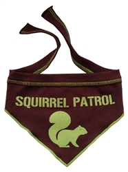 Squirrel Patrol - Scarf - Brown