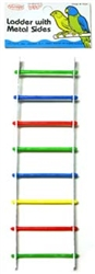 LADDER WITH METAL SIDES
