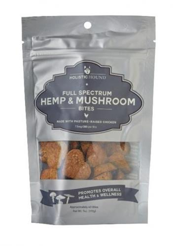 Full Spectrum Hemp and Mushroom Bites with Pasture-Raised Chicken, 7 oz bags (40 bites/bag)