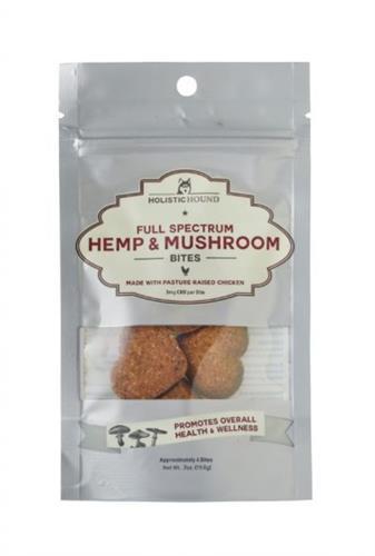 Full Spectrum Hemp and Mushroom Bites with Pasture-Raised Chicken, Trial Size Bag (4 bites/bag)
