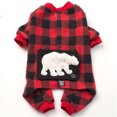 Red/Black Jackson Fleece Polar Bear PJs