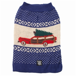Blue Clark's Wagon & Tree Sweater