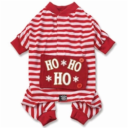 Red/White Stripe Ho Ho Ho PJs