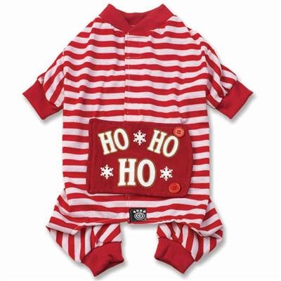 Red/White Stripe Ho Ho Ho PJs