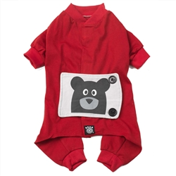 Teddy Bear PJs in Red